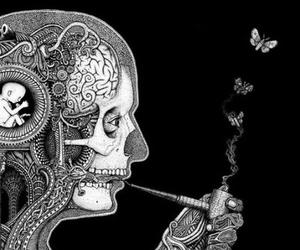 smoke, art, and butterfly image