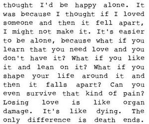 quotes, grey's anatomy, and alone image