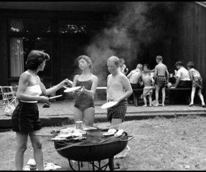 barbecue, black and white, and blackwhite image