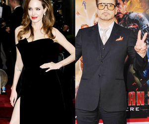Angelina Jolie, robert downey jr, and hollywood actor image