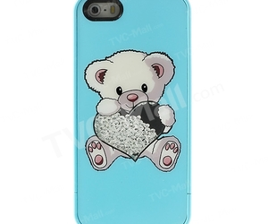 bear, blue, and cute iphone case image