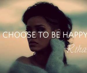 rihanna, happy, and quote image