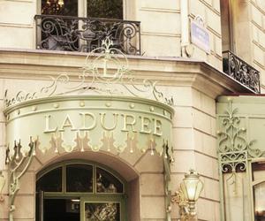 laduree, paris, and vintage image