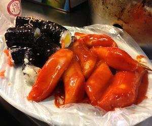 south korea, kimbap, and korean food image