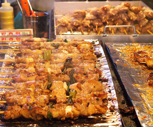 south korea, korean street food, and korean food image