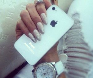 iphone, nails, and fashion image