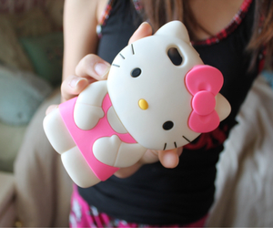 hello kitty, iphone, and mask image