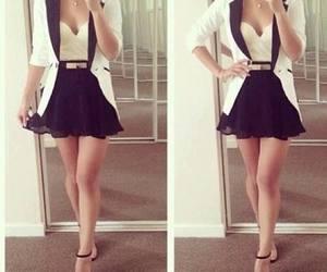black and white, fashion, and jacket image