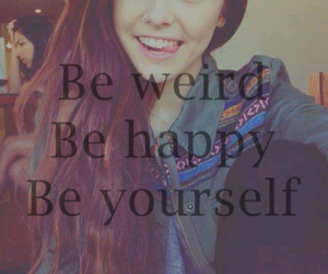girl, happy, and weird image