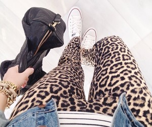 fashion, animal print, and bag image
