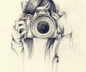 drawing, camera, and art image