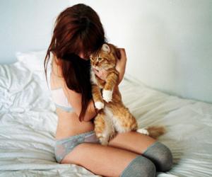 beautiful, girl, and orange image