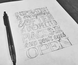 inspiration, quote, and black and white image