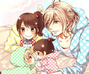 anime, couple, and family image
