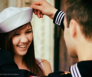 couple, military, and navy image