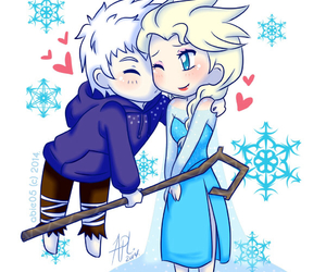 jack frost, jelsa, and love image