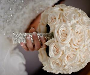 flowers, romantic, and wedding image