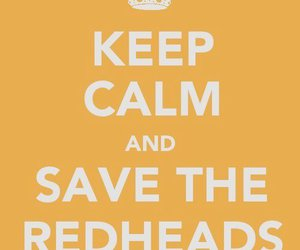 ginger, redheads, and keep calm image