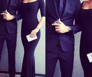 couple, black, and dress image