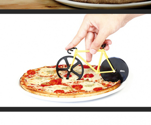 bike, pizza, and simple way image