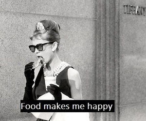 food, happy, and audrey hepburn image
