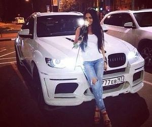 girl, car, and bmw image