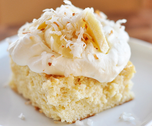 cake, coconut, and cream image