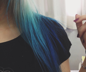 hair, blue, and cool image