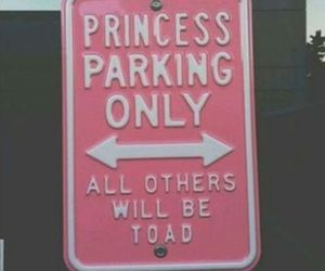 princess, pink, and parking image