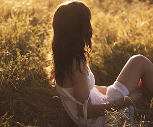 beautiful, girl, and meadow image