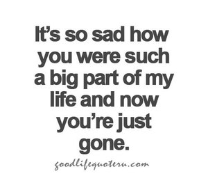 life, gone, and quotes image