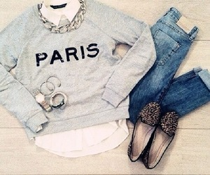fashion, paris, and outfit image