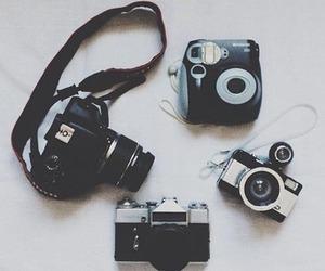 camera, vintage, and black image