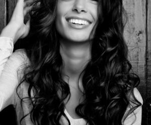 hair, smile, and brunette image