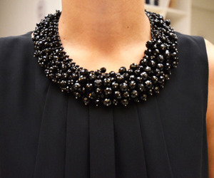 black, fashion, and necklace image