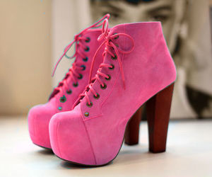 booties, pink, and girly image