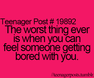 teenager post, bored, and quote image