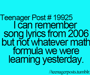 teenager post, funny, and Lyrics image