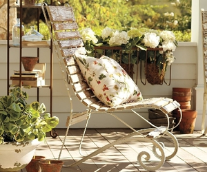 chair and flowers image