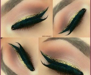 cat eye, eyeliner, and makeup image