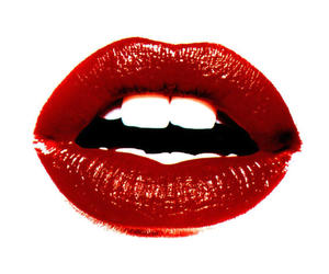 lips, red, and ruby image