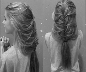 french, braid, and messy image