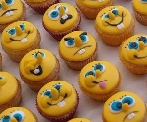 cupcake, spongebob, and food image