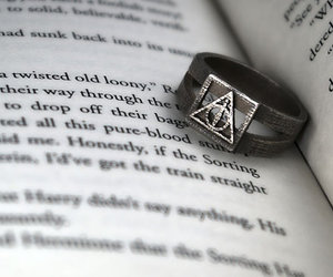harry potter, ring, and book image
