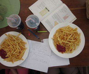 coke, fat, and fries image