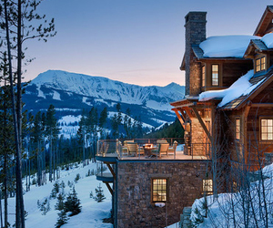 house, luxury, and snow image