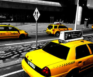 color splash, new york, and taxi image