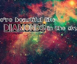 beautiful, song, and diamonds image
