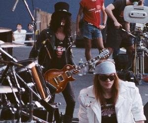 Guns N Roses, axl rose, and slash image