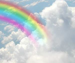 arcoiris, cloud, and nubes image